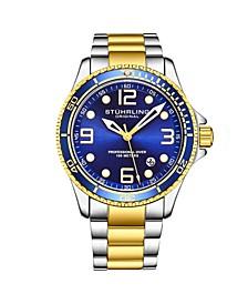 Men's Gold - Silver Tone Stainless Steel Bracelet Watch 43mm