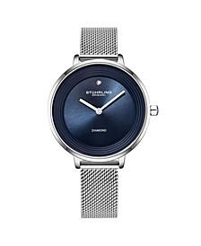 Women's Silver Tone Mesh Stainless Steel Bracelet Watch 37mm