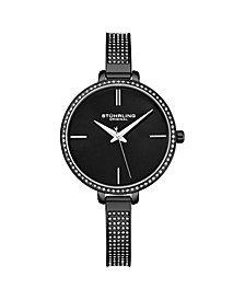 Women's Black Mesh Stainless Steel Bracelet Watch 36mm