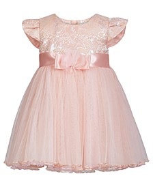 Baby Girls Jacquard Mesh Dress