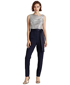 Metallic-Bodice Jumpsuit