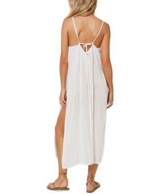 ONEILL Womens Spaghetti Strap V-Neck Short Length Beach Cover Up Dress