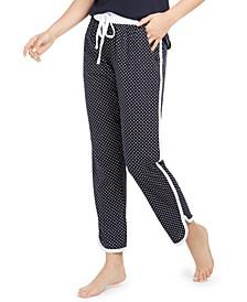 Printed Contrast-Trim Sleep Pants