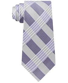 Men's Semi-Contrast Plaid Tie