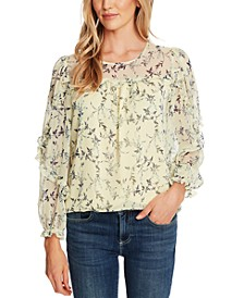 Ruffled Floral-Print Top