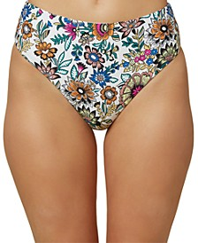 Juniors' Priscilla High-Waist Bikini Bottoms