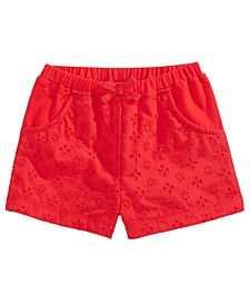 Baby Girls Eyelet Shorts, Created for Macy's