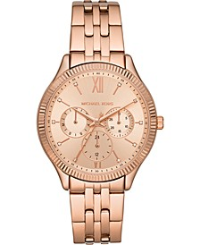 Women's Chronograph Benning Rose Gold-Tone Stainless Steel Bracelet Watch 39mm