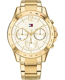 Women's Chronograph Gold-Tone Bracelet Watch 38mm, Created for Macy's