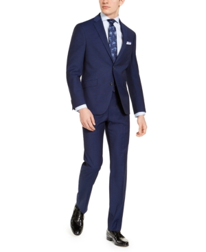 Kenneth Cole Reaction Men's Slim-Fit Techni-Cole Stretch Plaid Suit, Created for Macy's