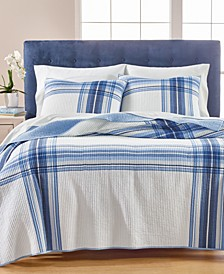 Engineered Plaid Quilt Collection, Created for Macy's