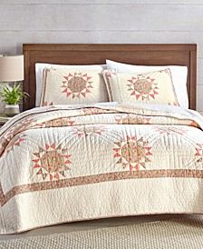 Artisan Sunburst Patchwork Full/Queen Quilt, Created for Macy's
