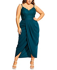 Trendy Plus Size Touch of Lace Dress