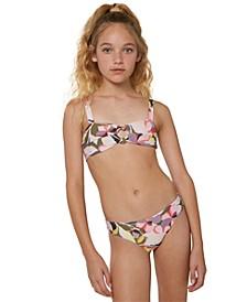Big Girls 2-Pc. Calla Double-Knot Bandeau Top Bikini