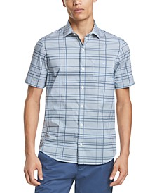 Men's French-Placket Plaid Shirt