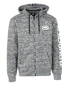 Men's Printed Tape Zipper Full Zip Hooodie