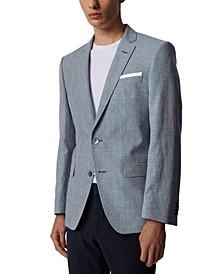BOSS Men's Hutsons Medium Blue Suit Jacket