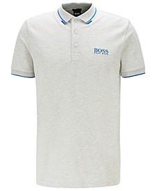 BOSS Men's Paddy Pro Light Pastel Gray Polo Shirt