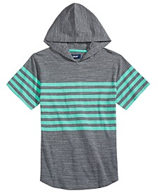 Big Boys Elliot Colorblocked Stripe Hooded T-Shirt