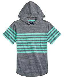 Big Boys Elliot Colorblocked Stripe Hooded T-Shirt