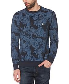 Men's Palm-Print Fleece Logo Sweatshirt