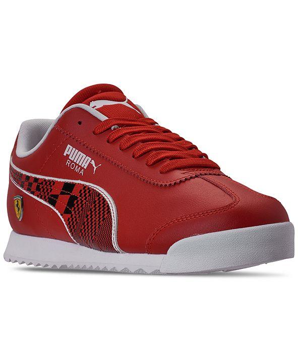 Puma Men's Scuderia Ferrari Roma Casual Sneakers from Finish Line