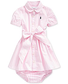 Baby Girls Bengal-Stripe Shirtdress