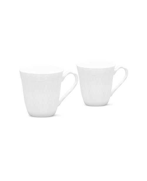 Noritake Cher Blanc Set/2 Mugs