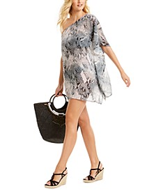 One-Shoulder Chiffon Cover-Up