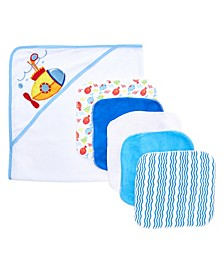 Baby Boys and Girls 6-Piece Towel and Washcloth Gift Set