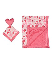 Jesse Lulu Baby Girls 2-Piece Blanket and Toy Security Blanket Set