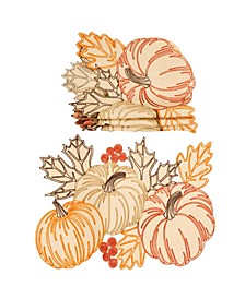 Pumpkin Party Embroidered Cutwork Placemats - Set of 4