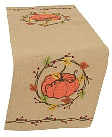 Rustic Pumpkin Wreath Table Runner Collection