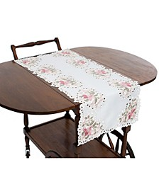Embroidered Cutwork Table Runner