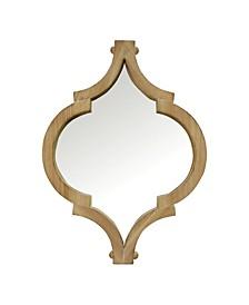 "Stratton Home Decor 19"" Amira Wood Wall Mirror"
