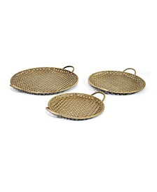 Stratton Home Decor Metal Decorative Trays, Set of 3