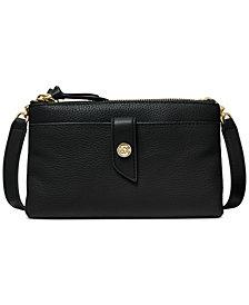 Michael Michael Kors Tab Leather Crossbody Bag
