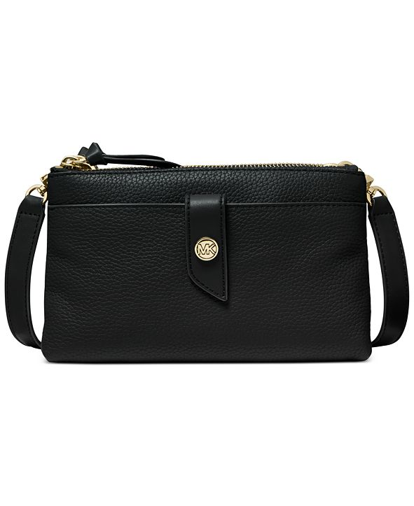 Michael Kors Tab Leather Crossbody Bag