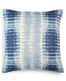 "CLOSEOUT! Shibori Cotton 20"" x 20"" Decorative Pillow, Created for Macy's"