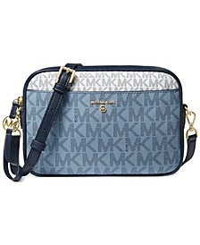Small Signature East West Camera Crossbody