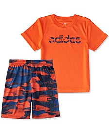 Short Sleeve Adi Running Camo Tee & Short Set Toddler Boy