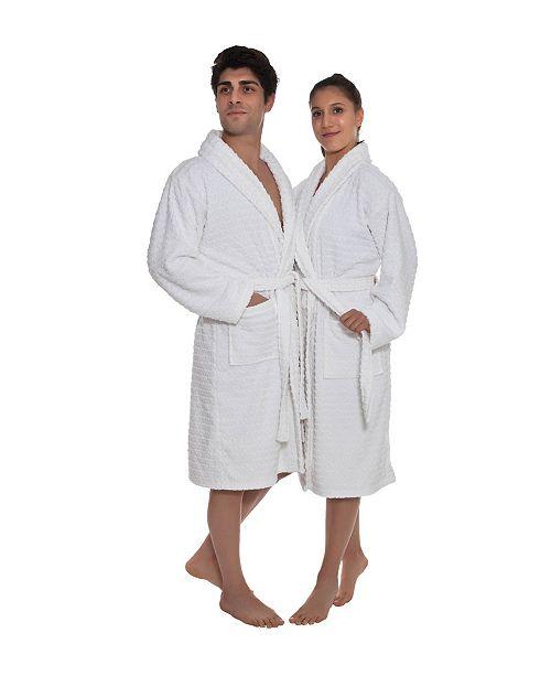 OZAN PREMIUM HOME Azure Unisex Turkish Cotton Bath Robe