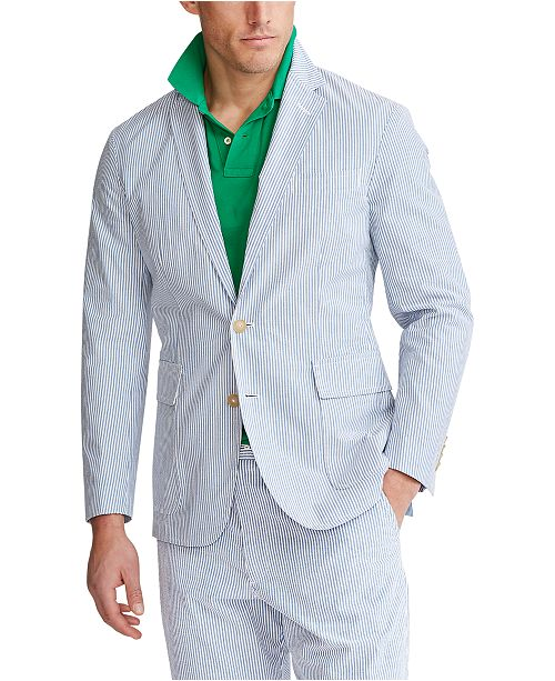 Polo Ralph Lauren Men's Seersucker Suit Jacket