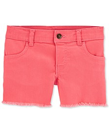 Big & Little Girls Frayed Denim Shorts