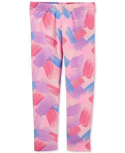 Carter's Toddler Girls Pink Brushstroke-Print Leggings