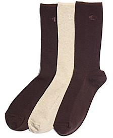 Women's Ribbed Cotton Trouser 3 Pack Socks