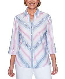 Petal Pushers Striped Shirt