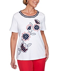 Ship Shape Floral-Embroidered 2020 Top