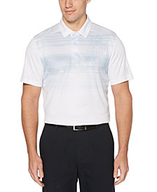 PGA TOUR Men's Stretch Photoreal Tropical-Print Polo Shirt