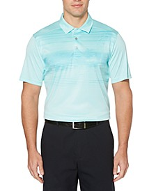 Men's Stretch Photoreal Tropical-Print Polo Shirt